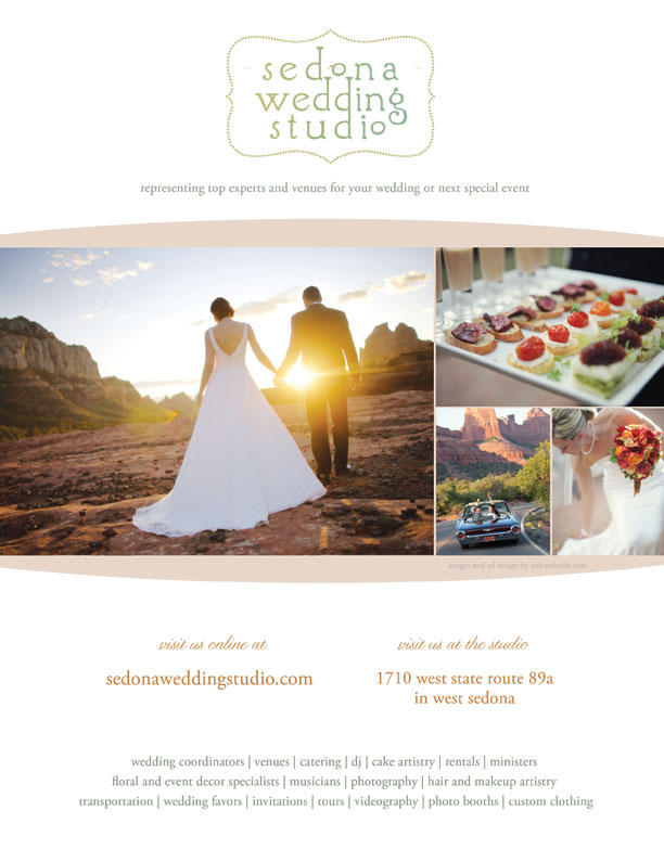 Sedona Wedding Studio Runs Full Page Ad This Lovely For The Will Ear In October Issue Of Monthly Magazine