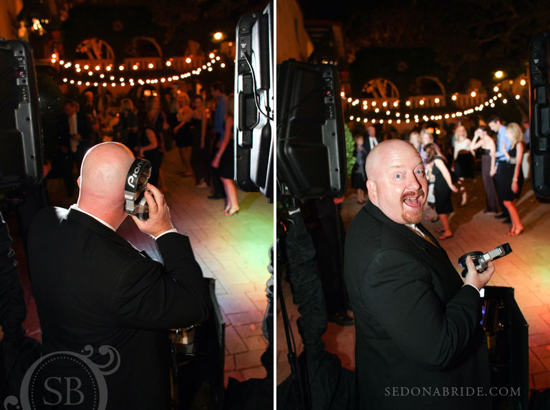 Sedona Wedding DJ Bobby Russell DJ's at a wedding at Tlaquepaque
