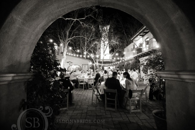 Sedona wedding at Tlaquepaque - Patio de Las Campanas
