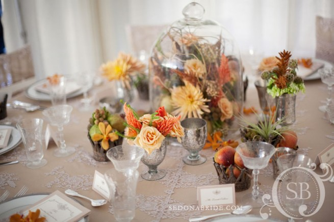 Tablescape by Sedona floral artists Events by Show Stoppers