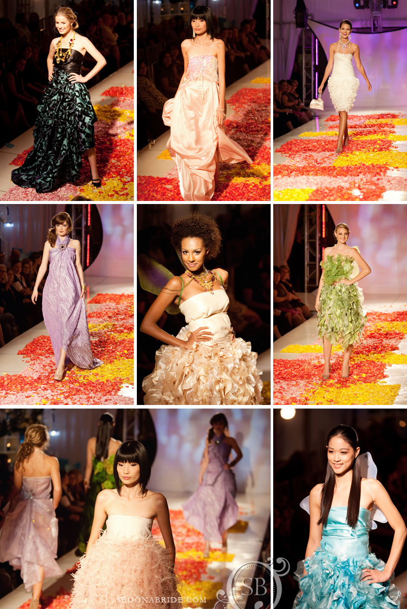 Rose petal runway carpet by Sedona floral artists Events by Show Stoppers