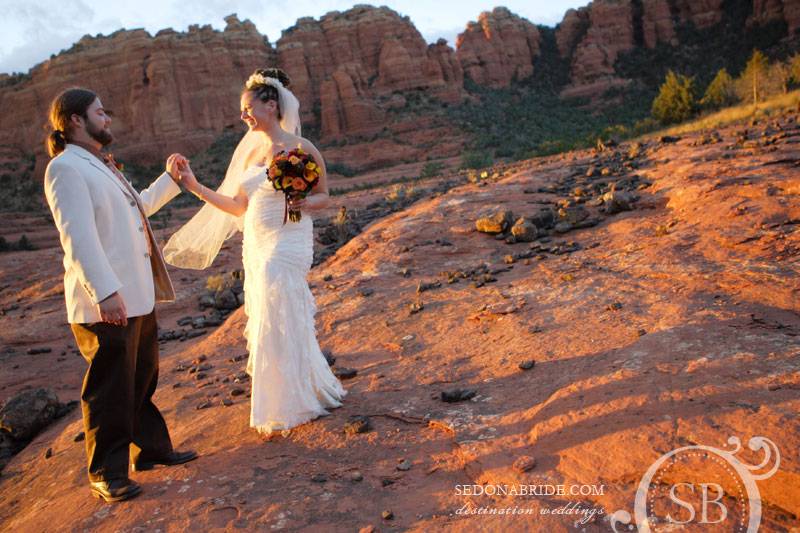 A sedona wedding on Schnebly Hill - Cow Pies - image by Sedona Bride Photographers
