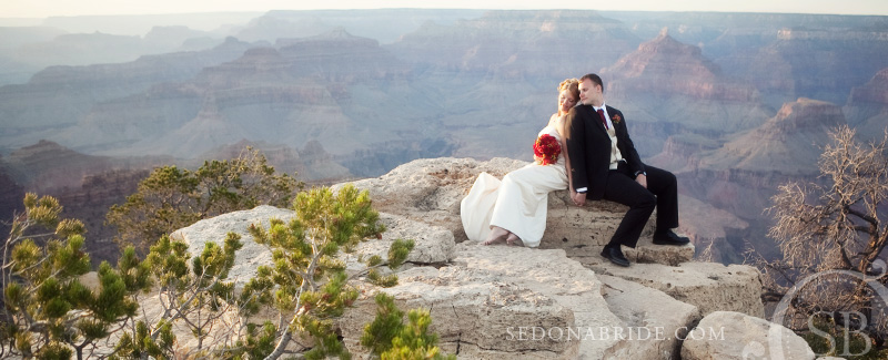 Grand Canyon wedding - image by Sedona Bride Photographers
