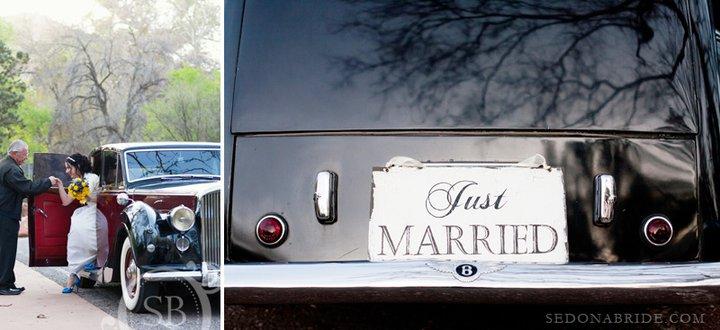 Classic Car for A Sedona Wedding