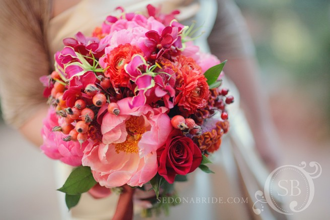 Sedona Wedding Bouquet With Peonies