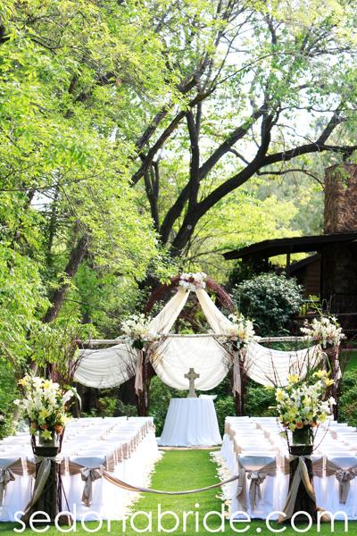Sedona wedding venues sedona wedding studio sedona wedding studio lauberge cottage side lawn junglespirit Choice Image