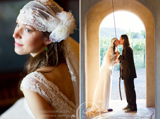 1920's bohemian wedding veil by Victorian Cowgirl - Alcantara Vineyards