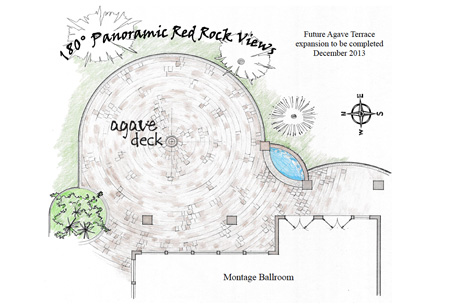 Agave of Sedona Wedding and Event Center Deck Plan with Amazing Arizona Views