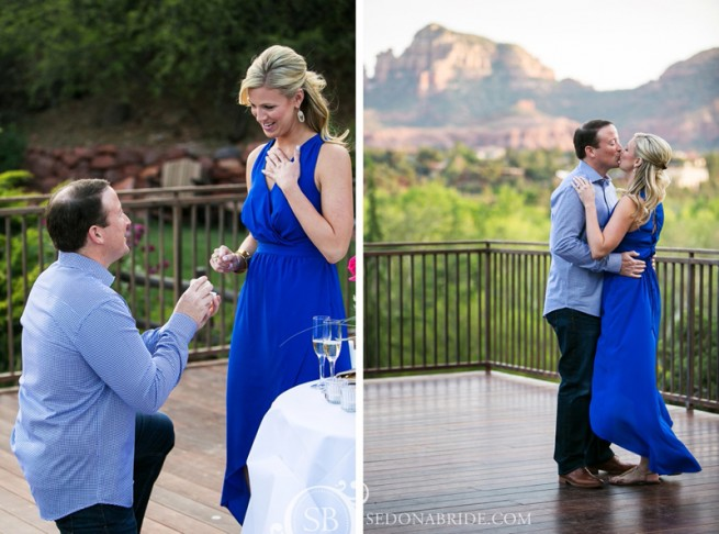 Sedona wedding proposal by Katrina Wallace of Sedona Bride photographers