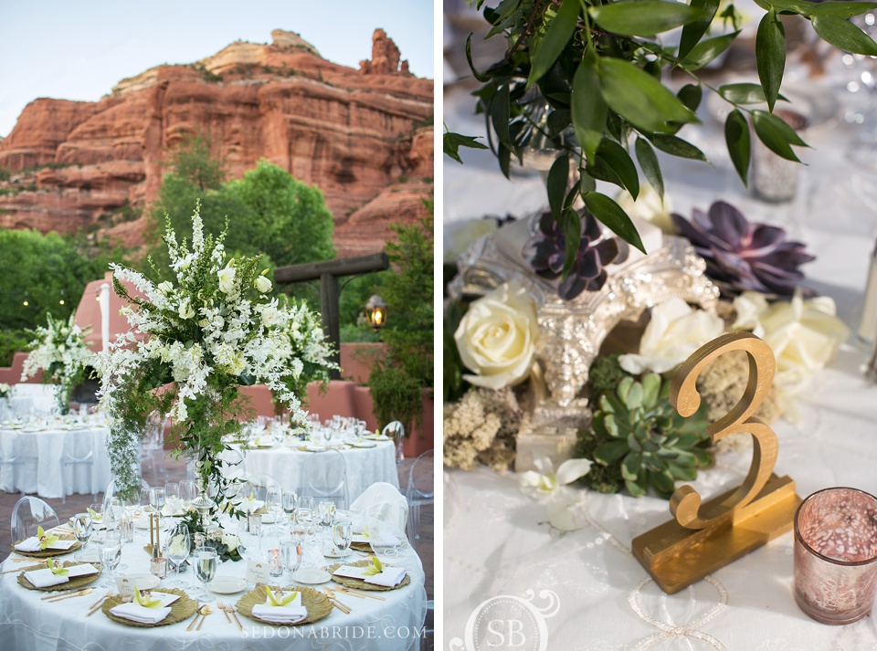 The details for the wedding reception were extravegant
