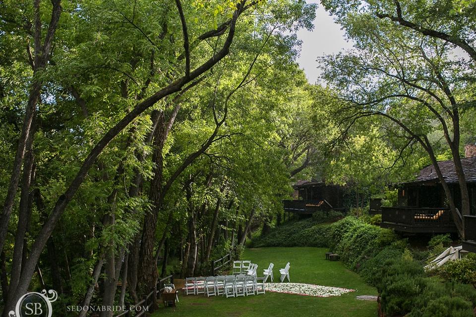 Sedona Arizona wedding ceremony site at L'Auberge de Sedona