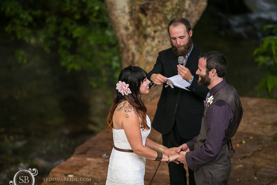 Wedding ceremony vows in Sedona