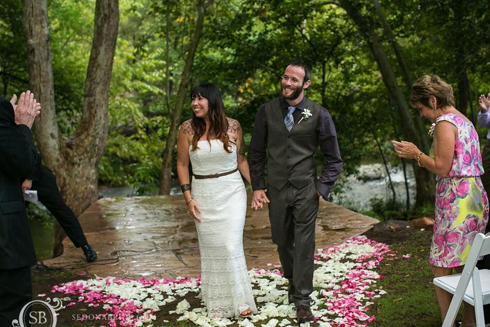The Sedona wedding ceremony is over